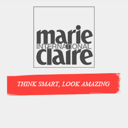 logo marie claire international think smart look amazing